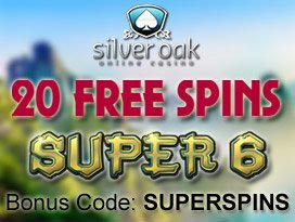 Silver Oak Casino free spins no deposit exclusive bonus