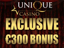 Unique Casino exclusive welcome bonus
