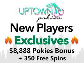 Uptown Pokies Casino pokies welcome bonus package