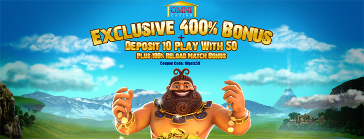 omni casino exclusive welcome free spins bonus pack
