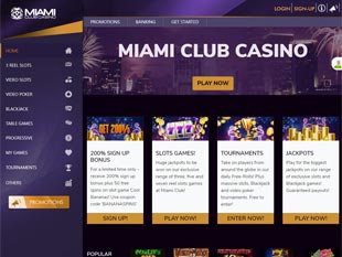 Miami Club Casino Home