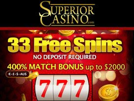 Superior Casinoo exclusive welcome bonus package