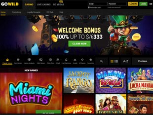 GoWild Casino Home